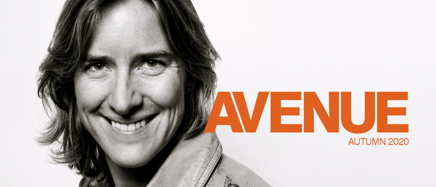 Avenue Autumn 2020 masthead with Katherine Grainger